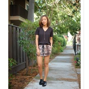 Like NEW forever21 tiger print woven shorts